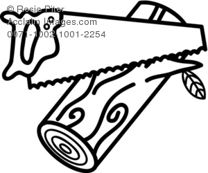 Saw clipart black and white 7 » Clipart Station.