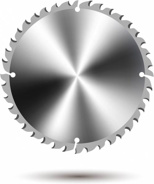 Circular saw blade Free vector in Adobe Illustrator ai ( .AI.
