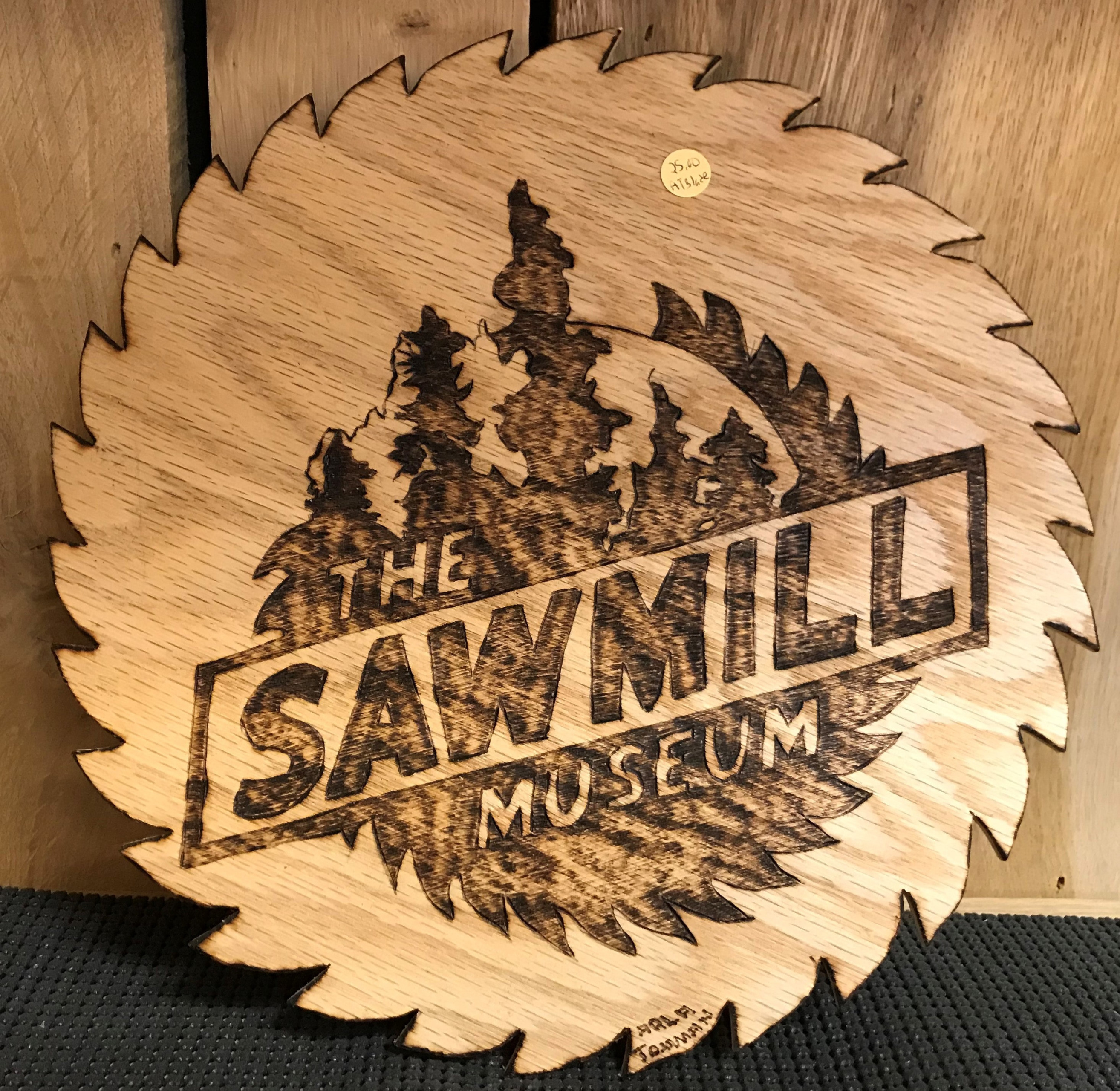 Wooden Saw blade Logo.
