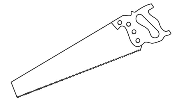Hand Saw Clipart.