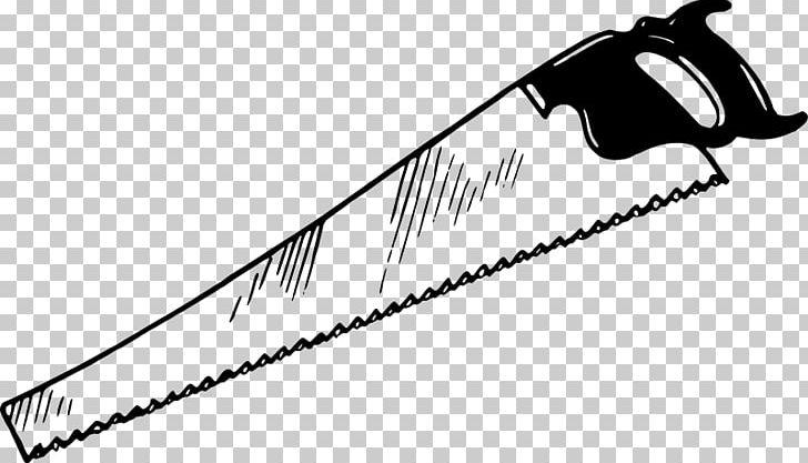 Crosscut Saw Hand Saws Drawing PNG, Clipart, Black, Black.