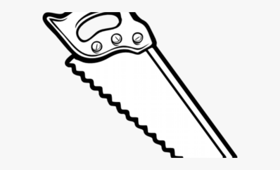 Hand Saw Clipart Black And White.