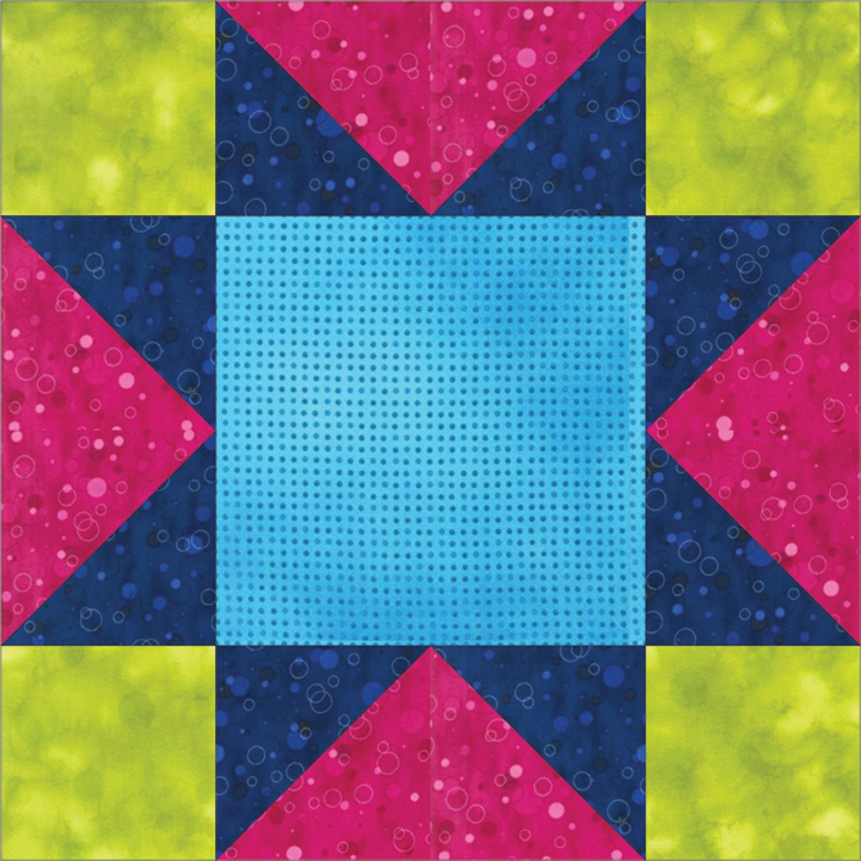 GO! Sawtooth Star Block Pattern.