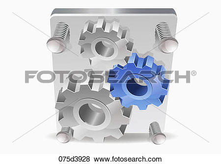 Stock Illustration of saw toothed wheels 075d3928.