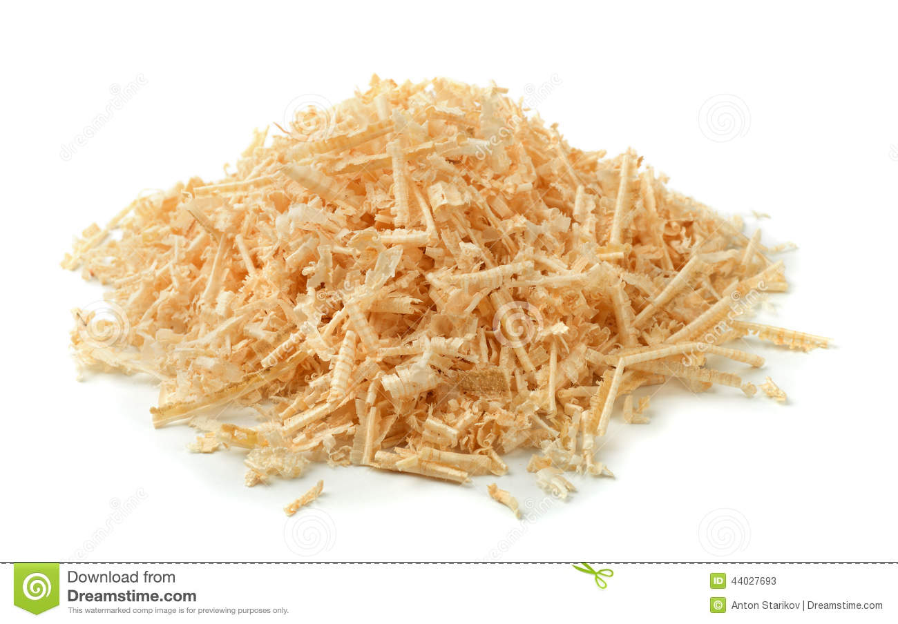 Sawdust And Shavings Stock Photo.