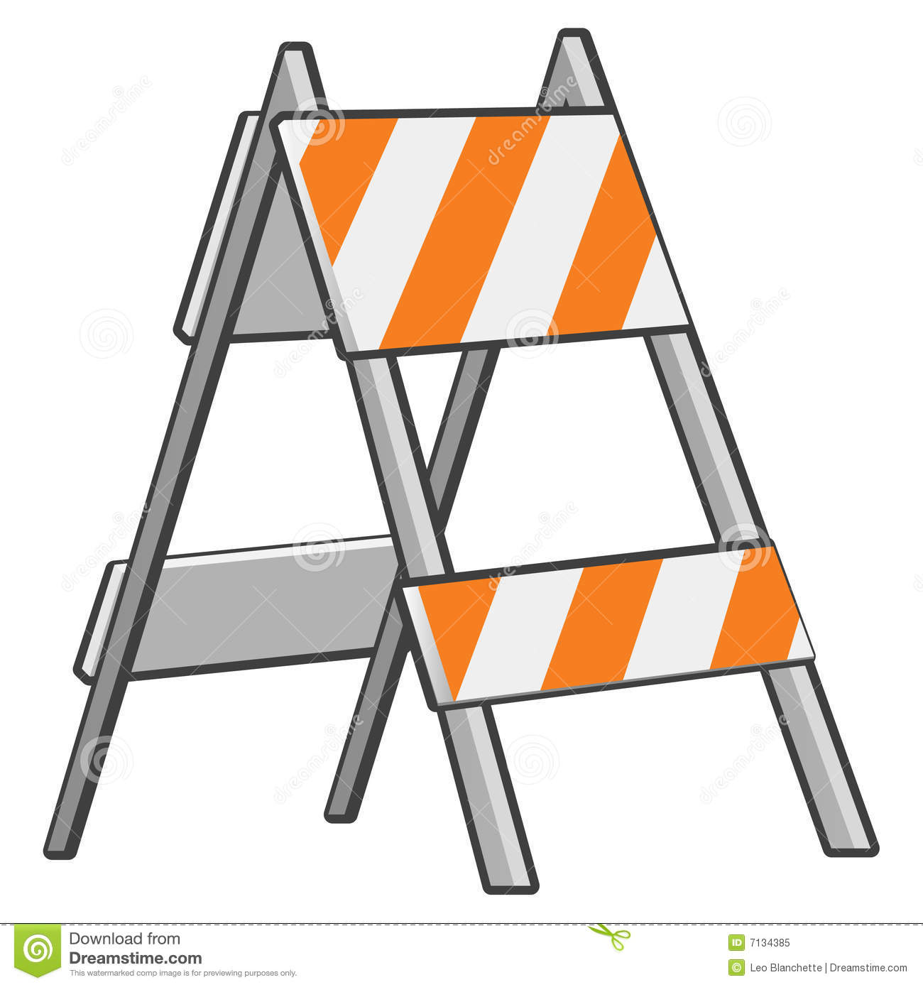 Caution Barrier Or Sawhorse Royalty Free Stock Photo.