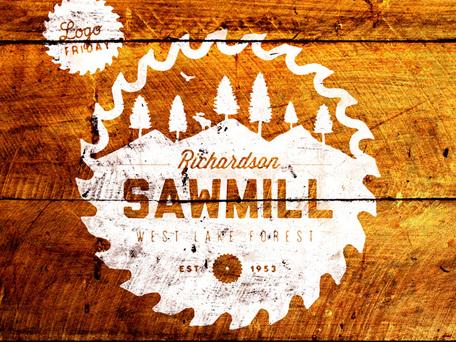 Vintage Sawmill Badge, Vector Files.