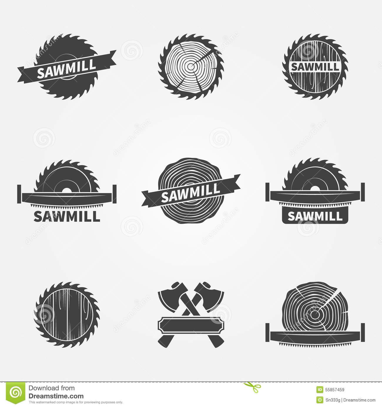 Sawmill Stock Illustrations.