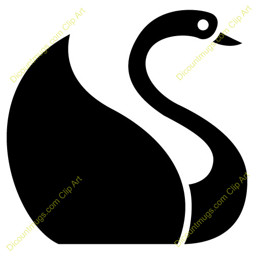 Swan clip art swimming hostted.