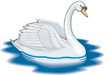Cute swan clipart.