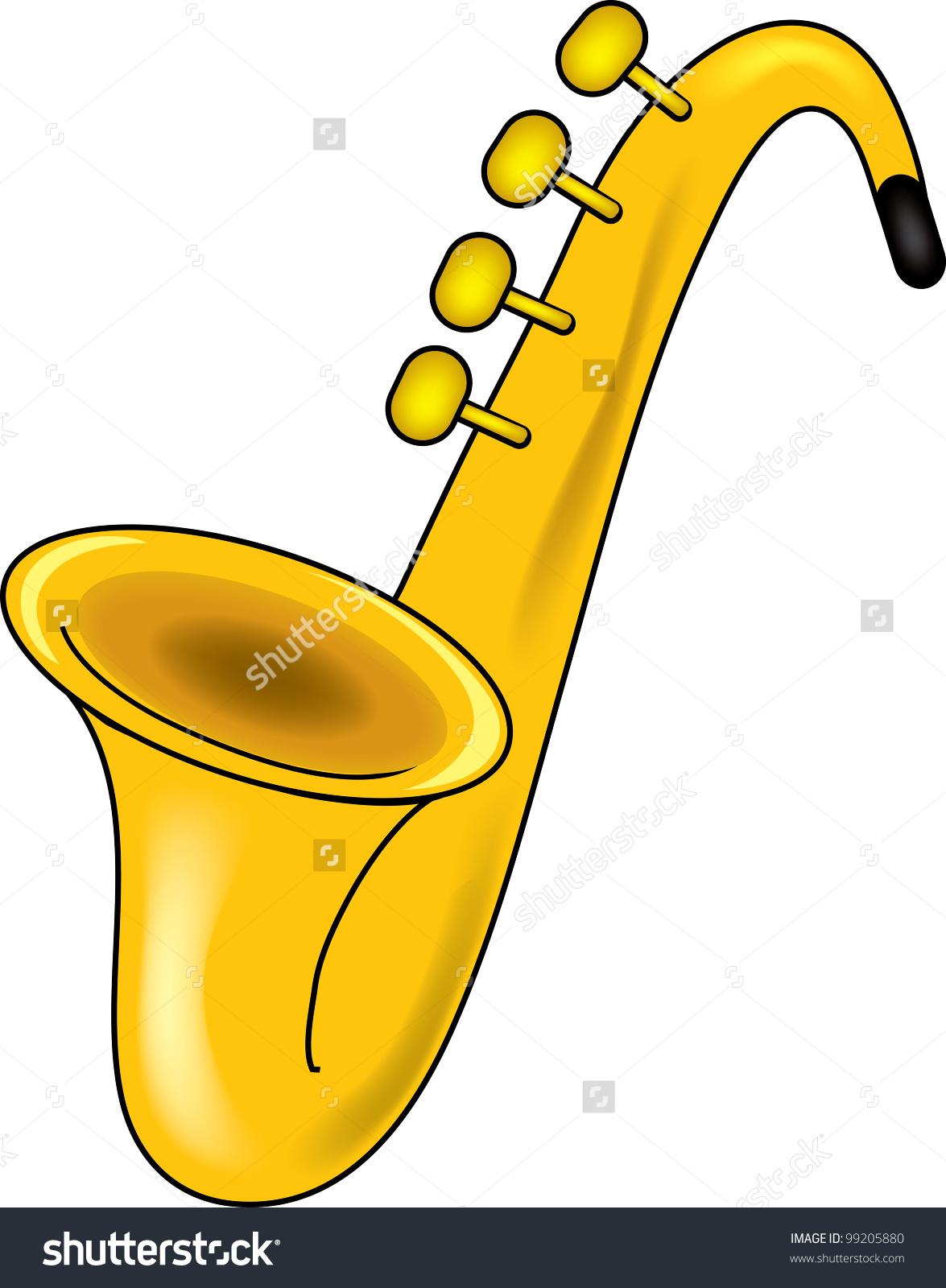 Clip Art Illustration Saxophone Stock Illustration 99205880.