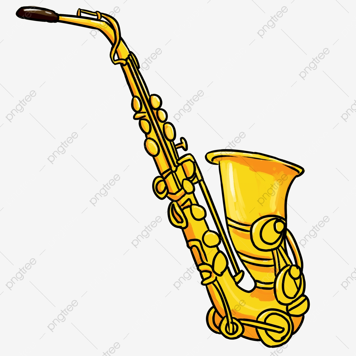 Saxophone, Saxophone Clipart, Western Musical Instruments.