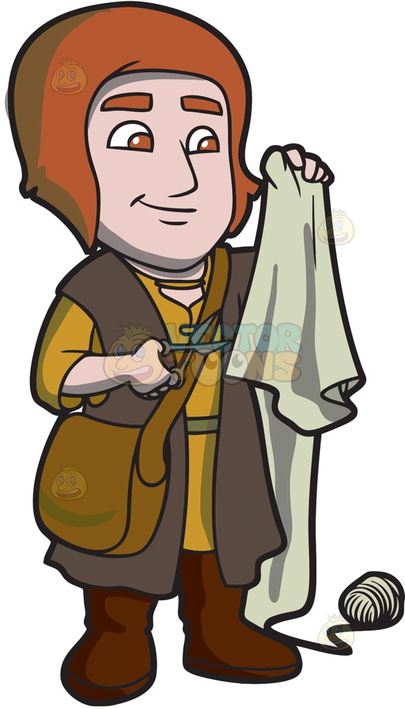 A Saxon Tailor Cartoon Clipart.