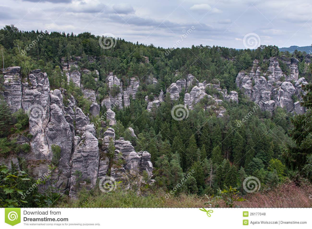 Saxon Switzerland National Park Royalty Free Stock Photos.