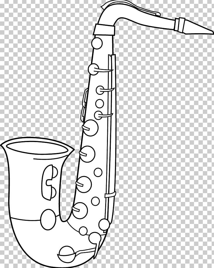 Alto Saxophone Black And White Tenor Saxophone PNG, Clipart.