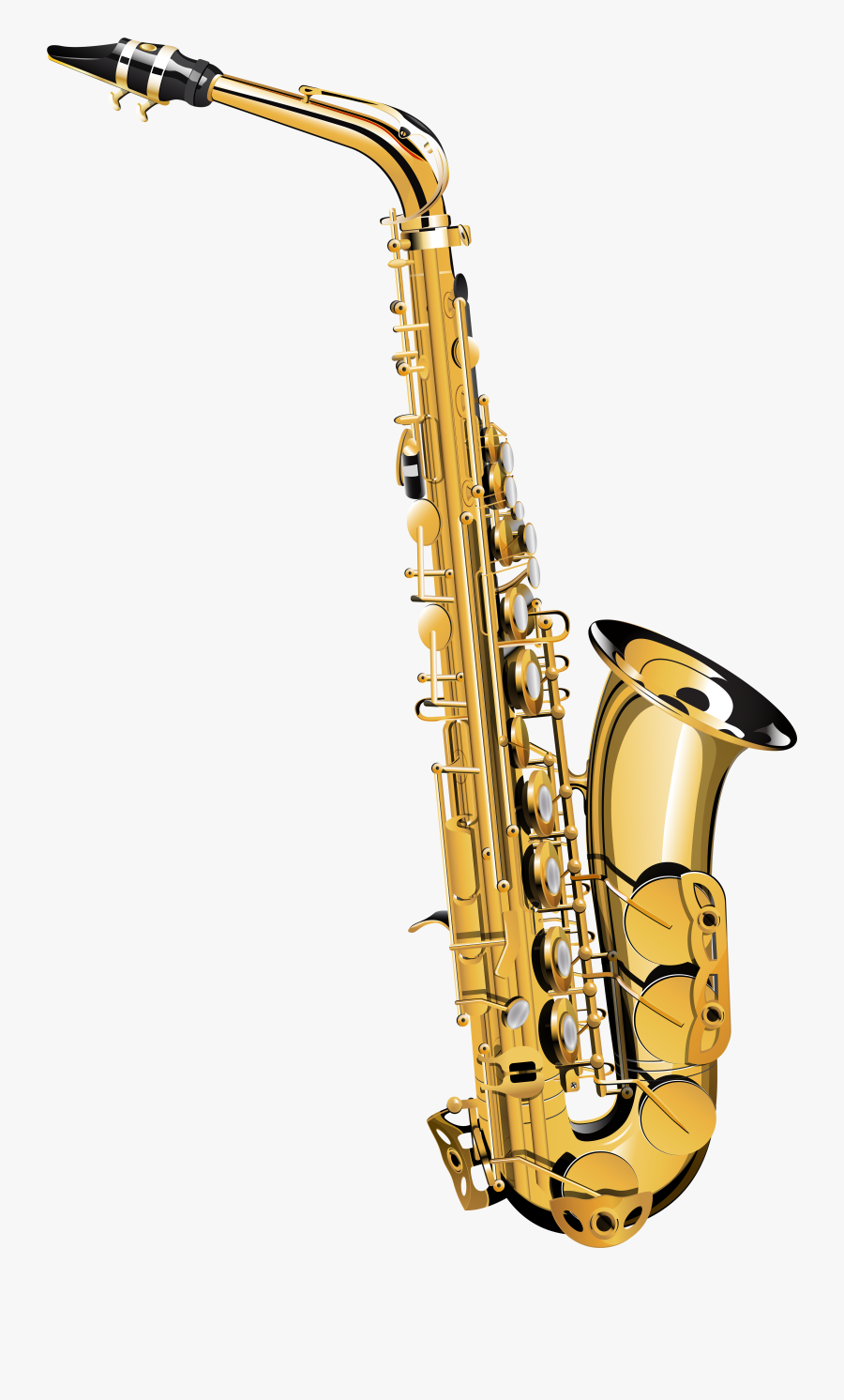 Saxophone High Resolution Clipart , Png Download.