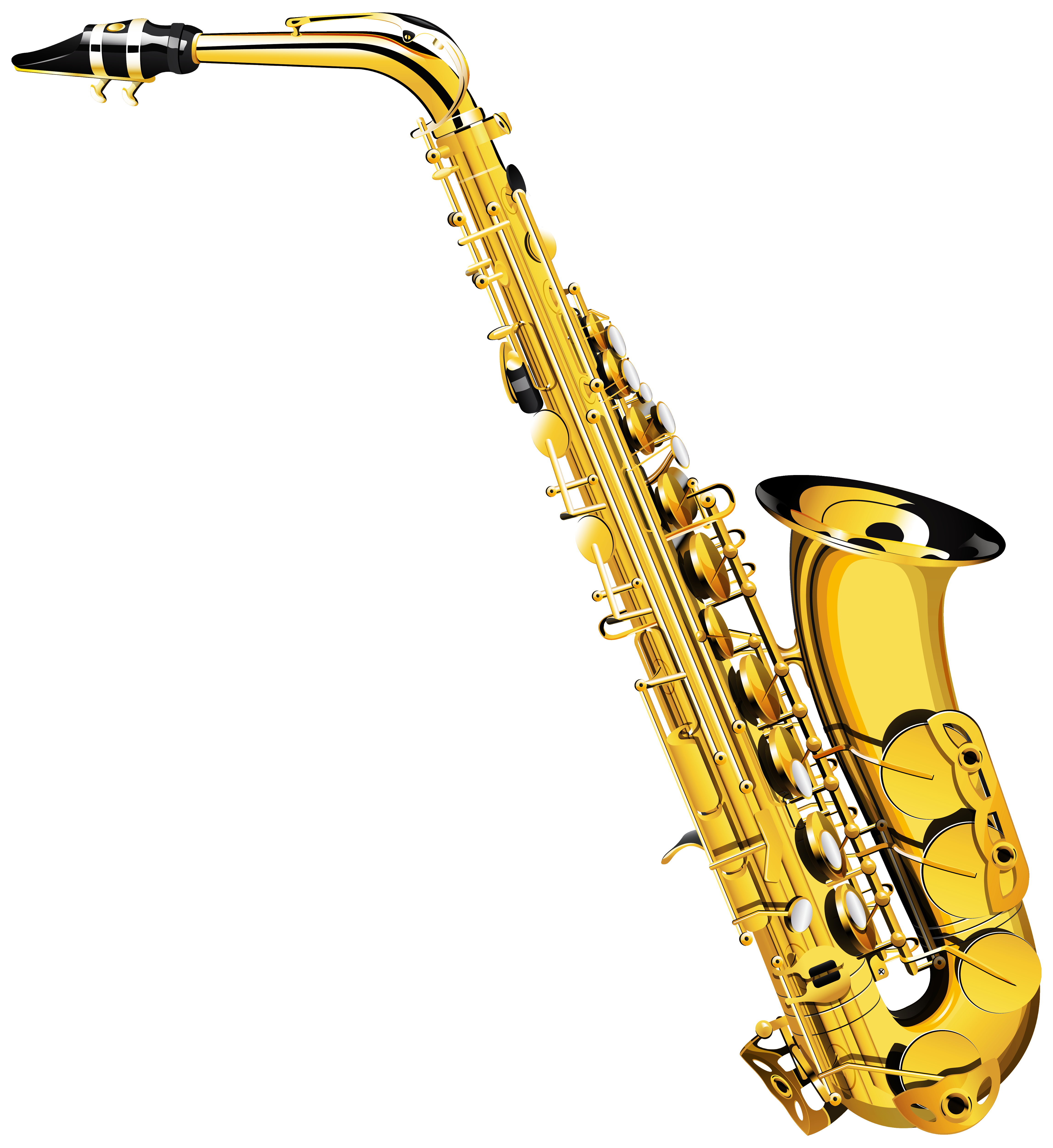 Saxophone PNG Clipart.