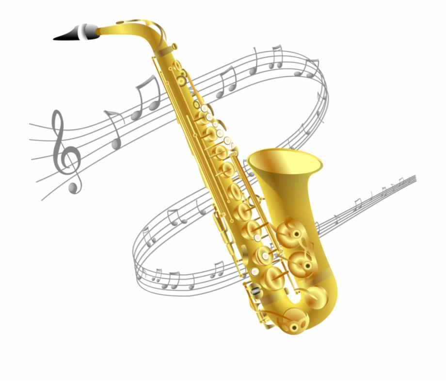 Baritone Saxophone Drawing Musical Instruments.