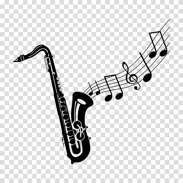 Saxophone Drawing , tribal transparent background PNG.