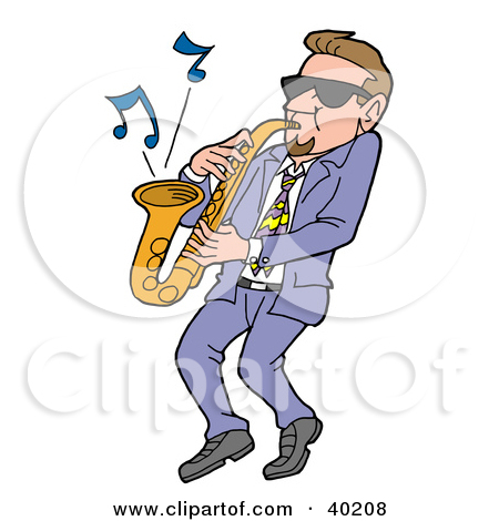 Showing post & media for Cartoon saxophone player clip art.