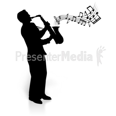 Saxophone Player Clip Art.