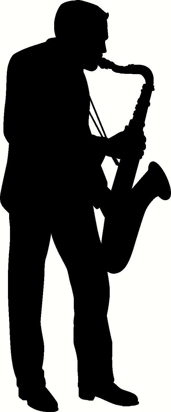 Saxophone Player Clip Art.