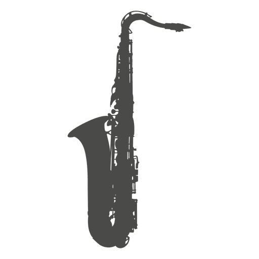 Saxophone silhouette.