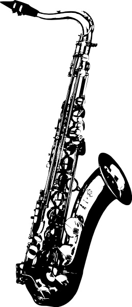 Saxophone clip art Free vector in Open office drawing svg.