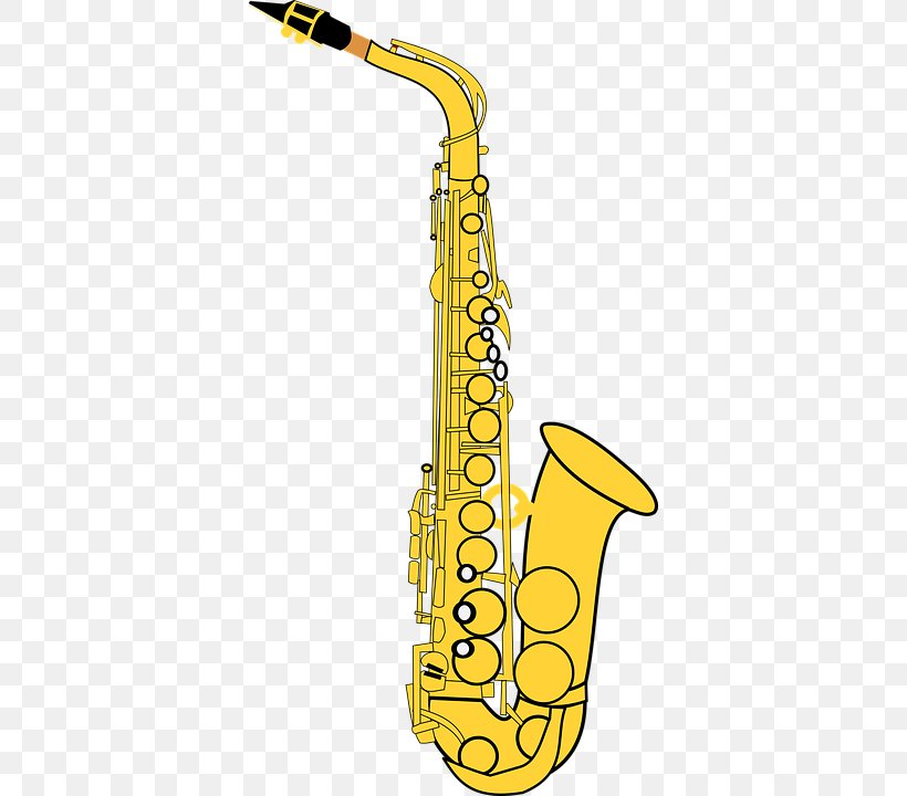 Alto Saxophone Vector Graphics Clip Art Musical Instruments.