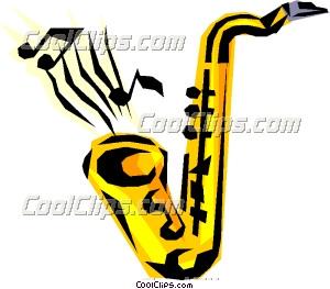 Saxophones Clip Art.