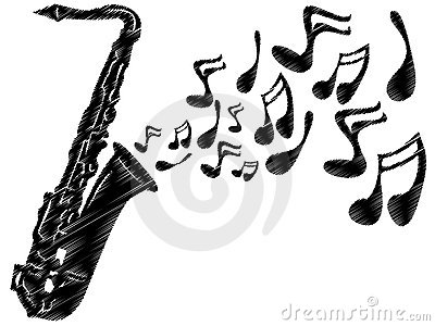 Sax Stock Illustrations.