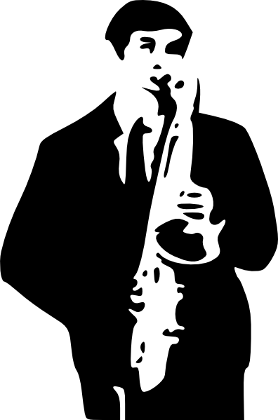 Saxophone Player Clipart.