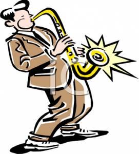 Saxophonist Clipart.