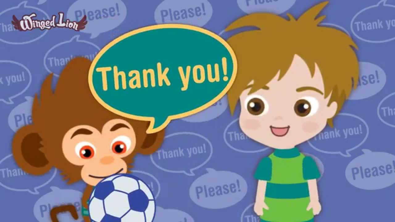 Children Saying Thank You Clipart.