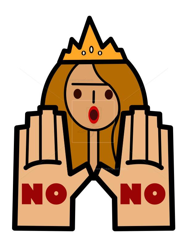 Girl Saying No.