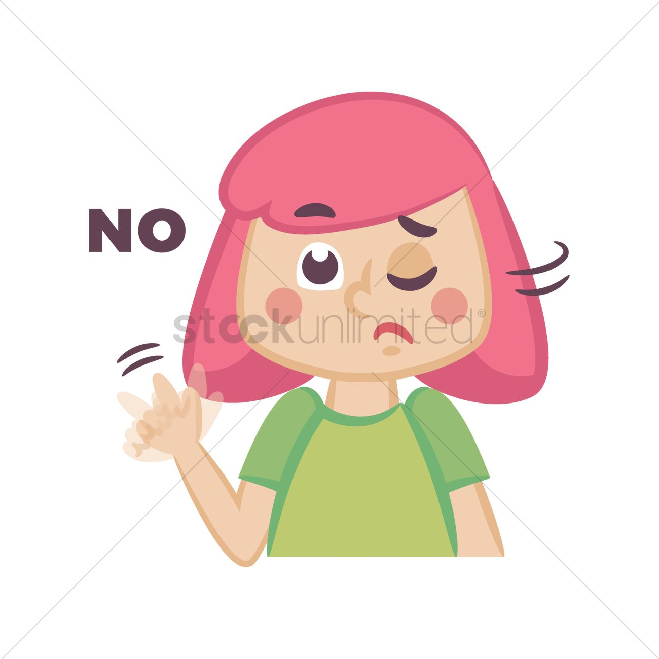 Child Saying No Clipart.