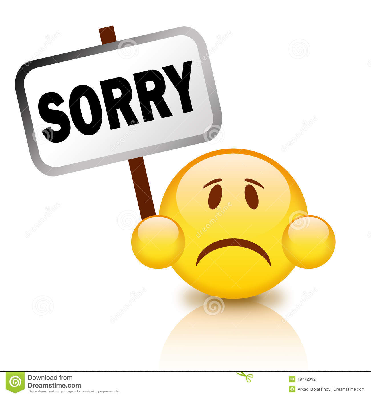 Download Saying Sorry Clipart.