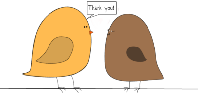 Clip art that says thank you.