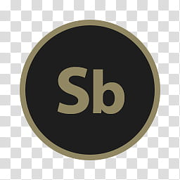 Circular Icon Set, Soundbooth, black and brown SB logo.