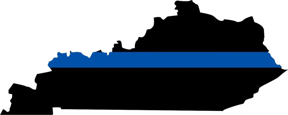 Thin Blue Line State of Kentucky Decal.