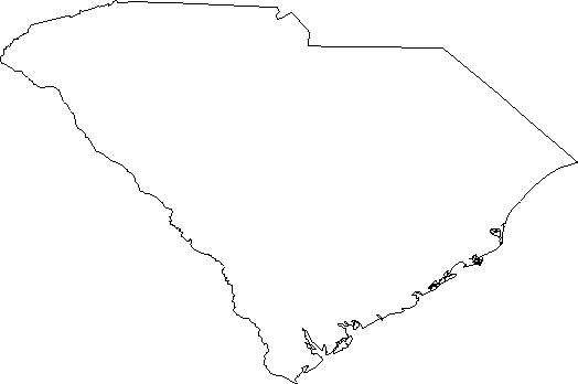 South Carolina Outline Clipart.