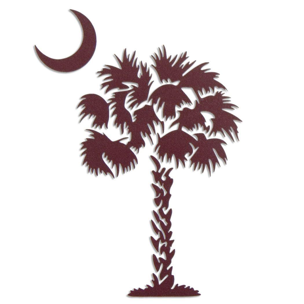 South Carolina Gamecock Garnet Palmetto Tree.