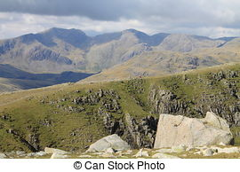 Stock Photography of Scafell Range.