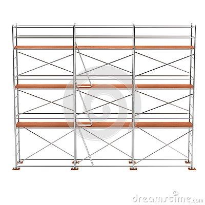 3d Render Of Scaffolding Stock Illustration.