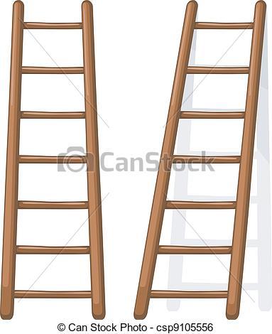 Clipart vettoriali di legno, vettore, illustrazione, scala.
