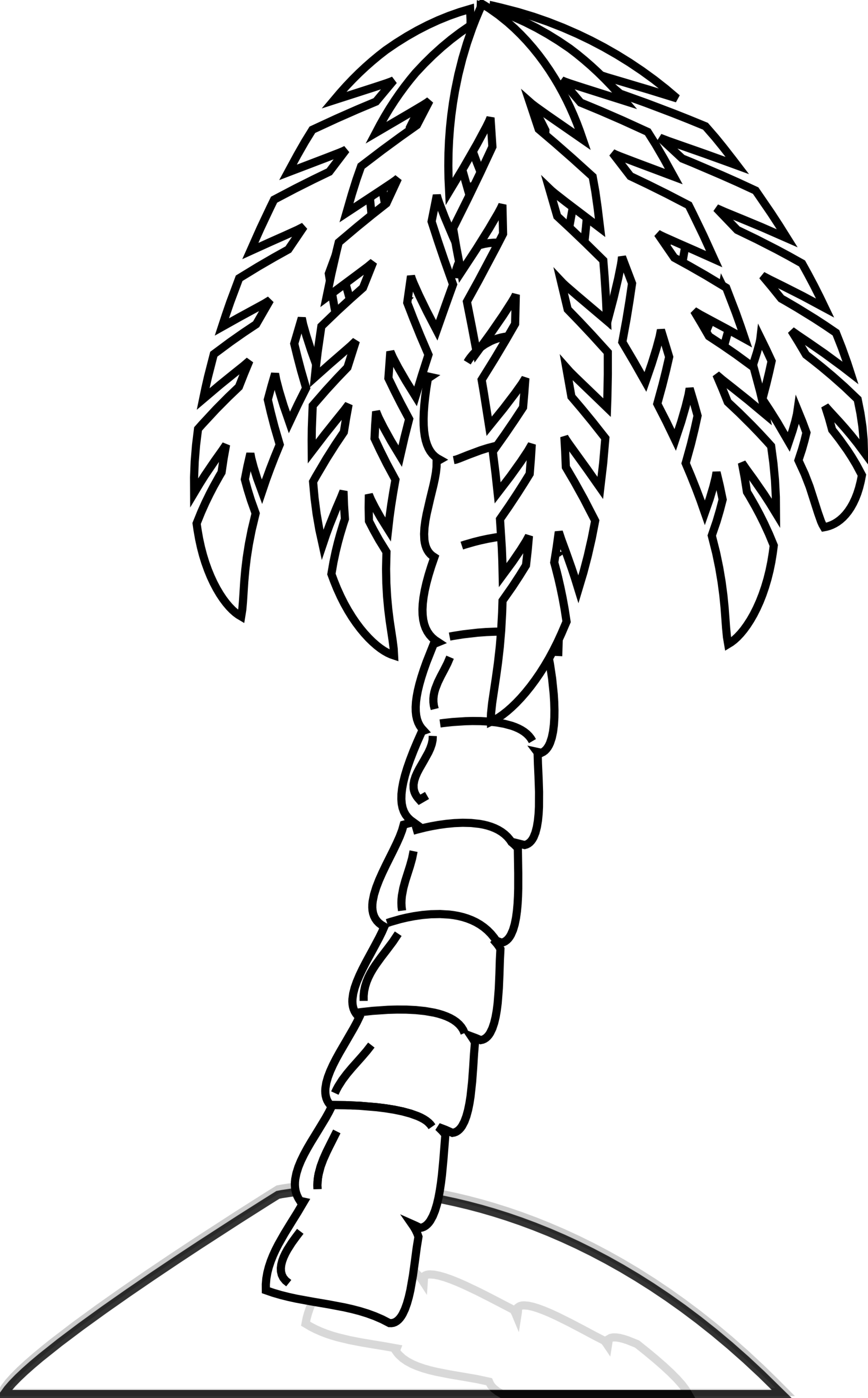 Rg 1 24 Palm Tree Black White Line Art Scalable Clipart.