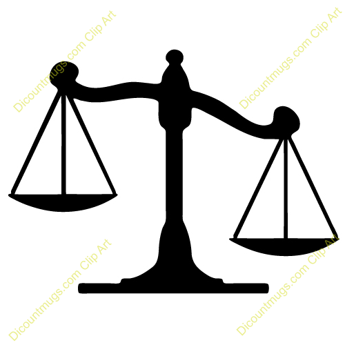 Legal Scales Clipart.