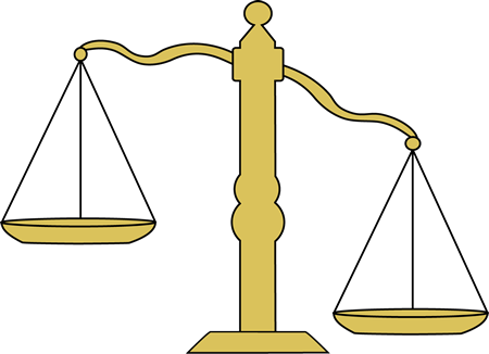 Unbalanced scale clipart.