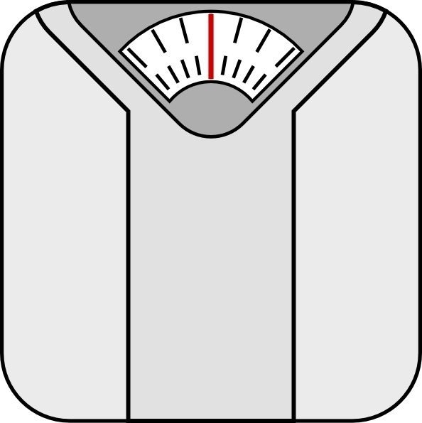Bathroom Scale clip art Free vector in Open office drawing.