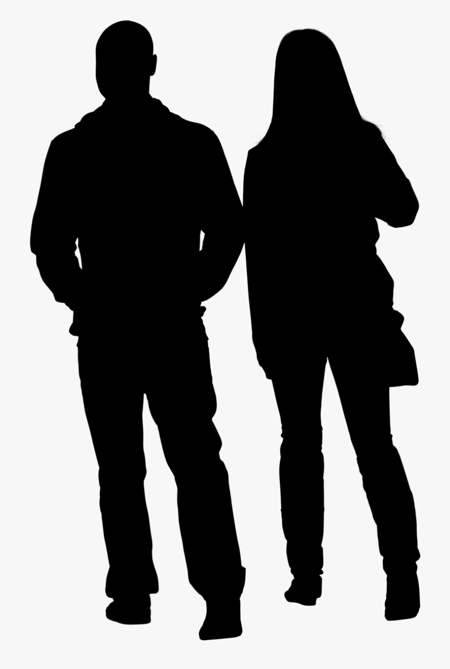 Silhouette People Png.